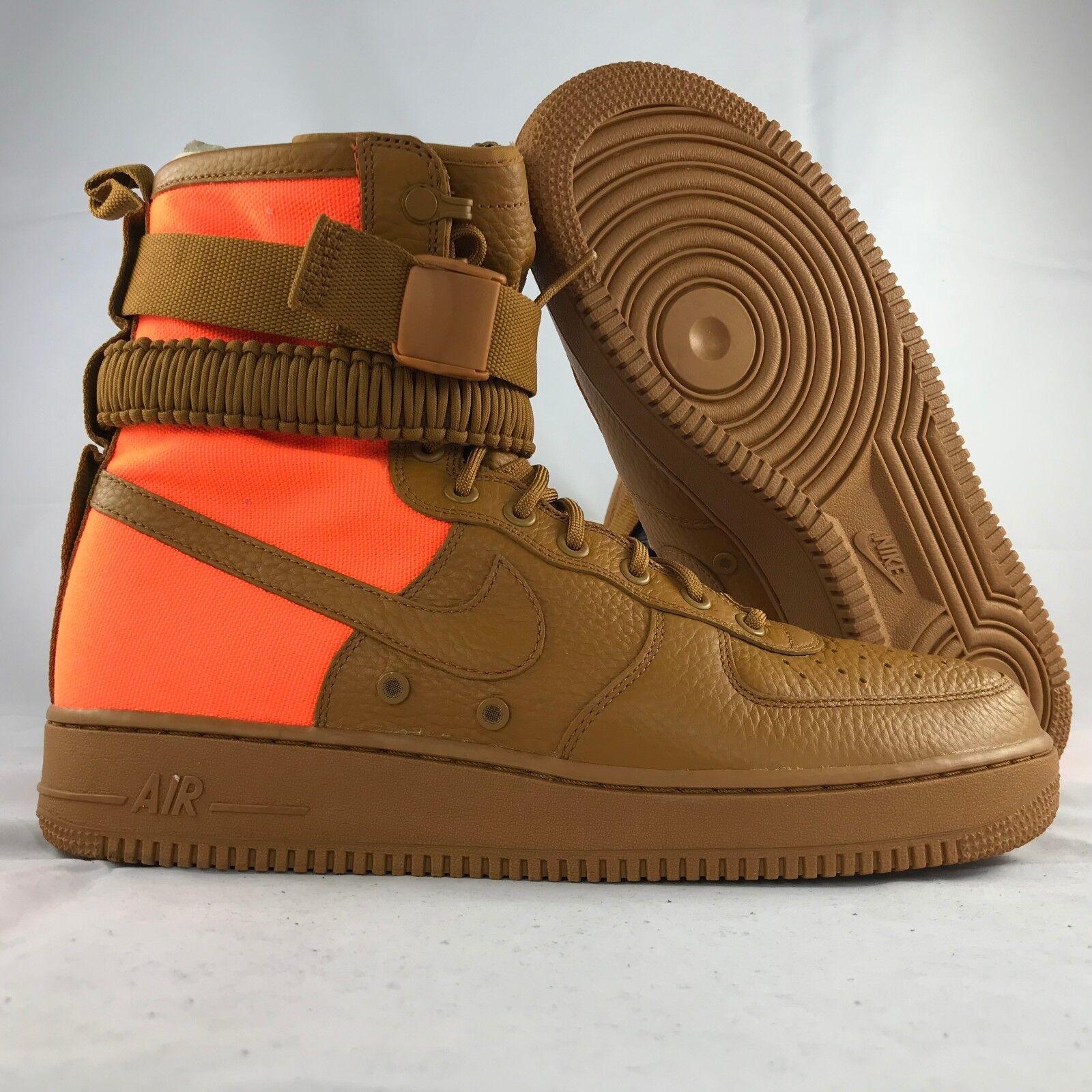 Nike SF AF1 QS Special Field Air Force 1 Brown orange 903270-778 Men's 8-12