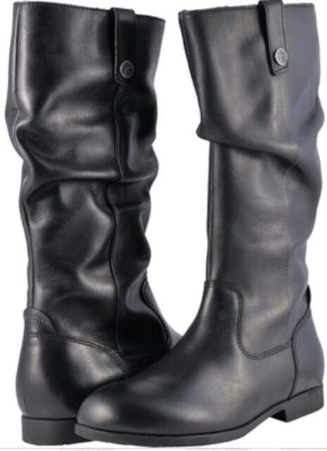 260ae8d3a3569 NEW Birkenstock Sarnia High Black Leather Slip On Women's US 7 M Tall Boot  EU 38