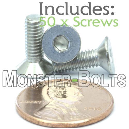 DIN 7991 Stainless FLAT HEAD Countersunk Socket Cap Screws M4 x 12mm Qty 50