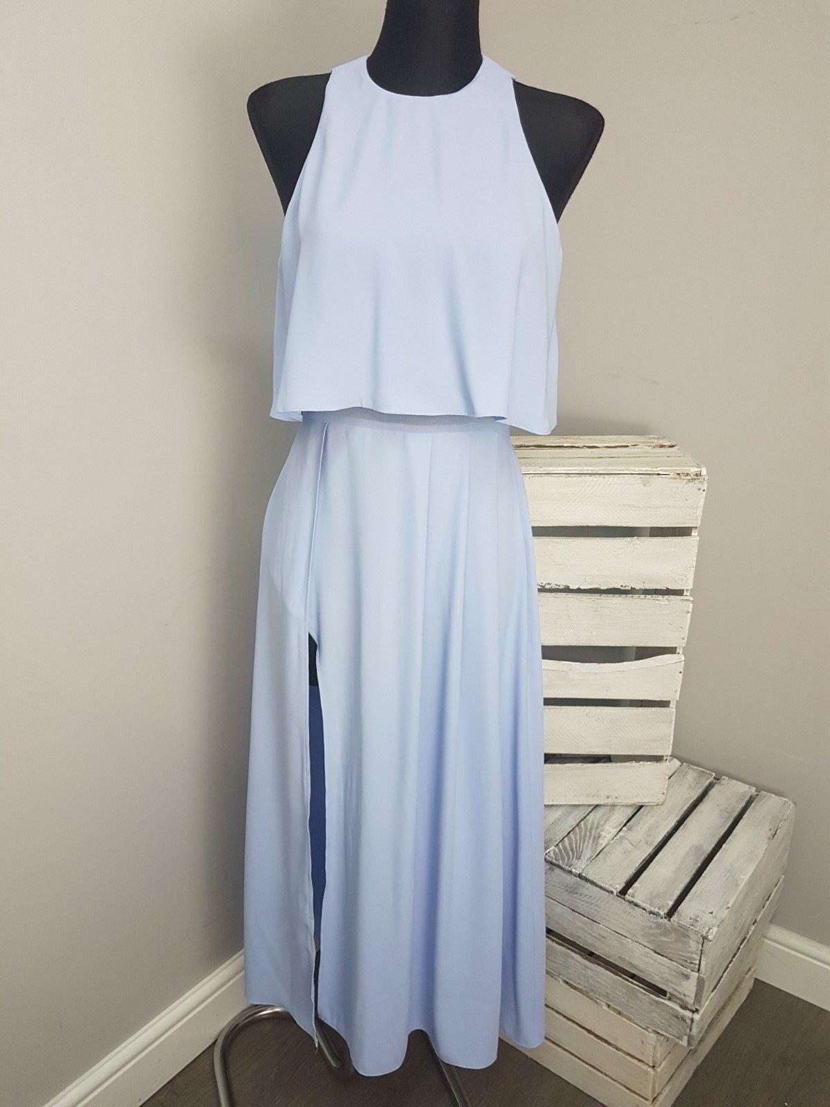 ASOS TALL Crop Top Wrap Split Midi Dress RRP  (AS9 36)