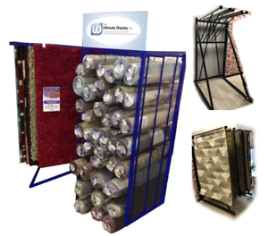 Details About Rug Stand Swing Arm Carpet Display 6 5x3 Shelving Storage Racks