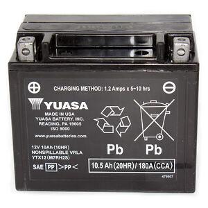 Yuasa 12v 10ah Motorcycle Atv Battery For Honda Suzuki