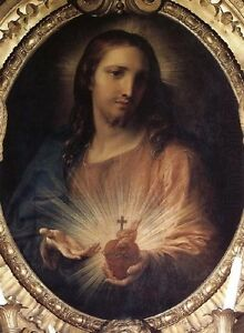 Handmade-Oil-Painting-repro-Sacred-Heart-of-Jesus-By-Pompeo-Batoni