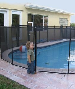 Water Warden In Ground Pool Safety Fence 4' x 12' Section WWF200