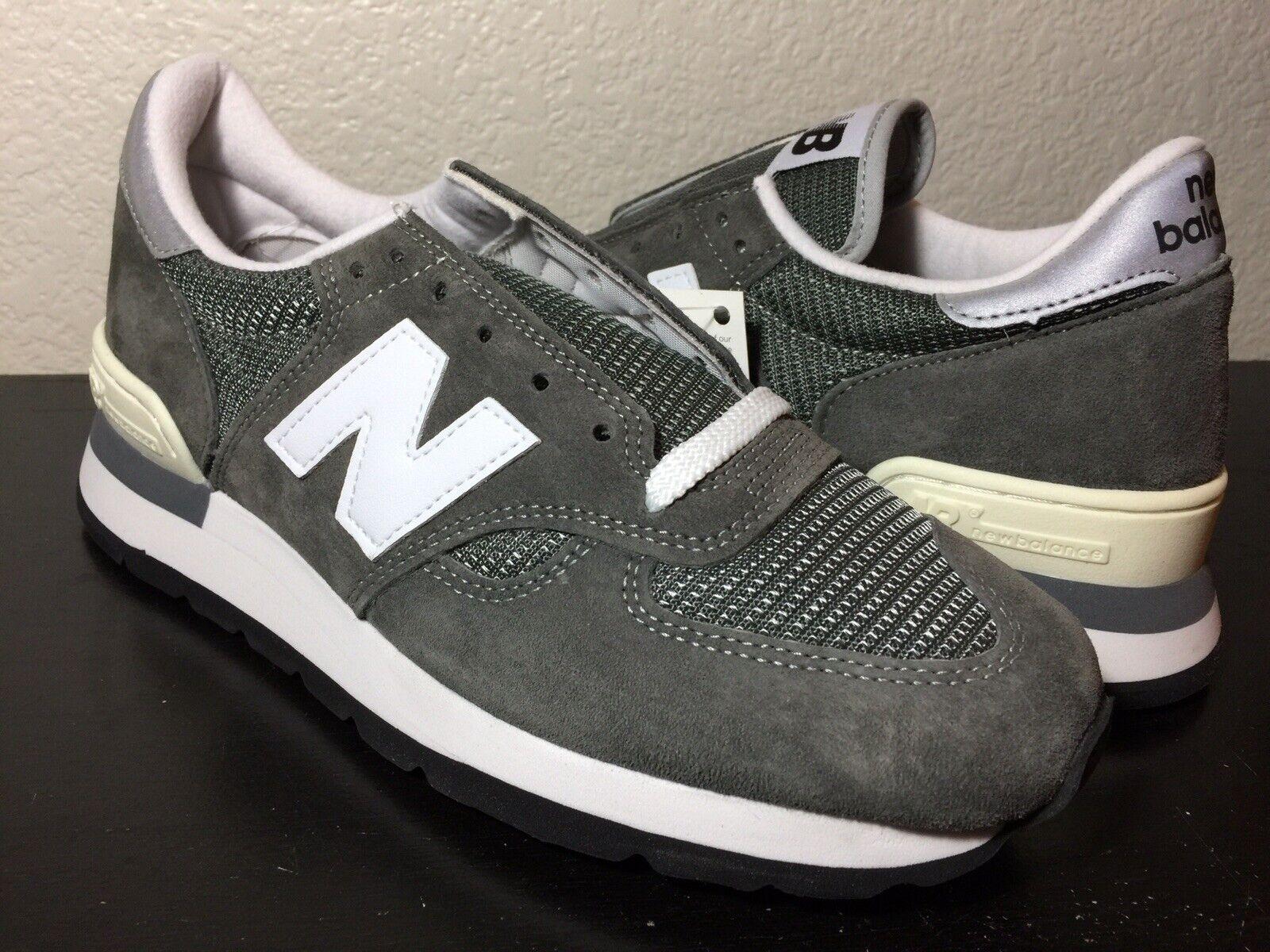 Mens New Balance 30th Anniversary M990GRY Size 12 Grey White