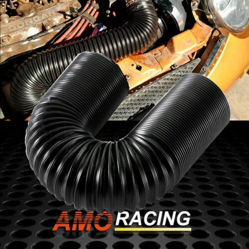 """2.5/"""" Adjustable High Flow Flexible Turbo Cold Air Intake System Hose Pipe Tube"""