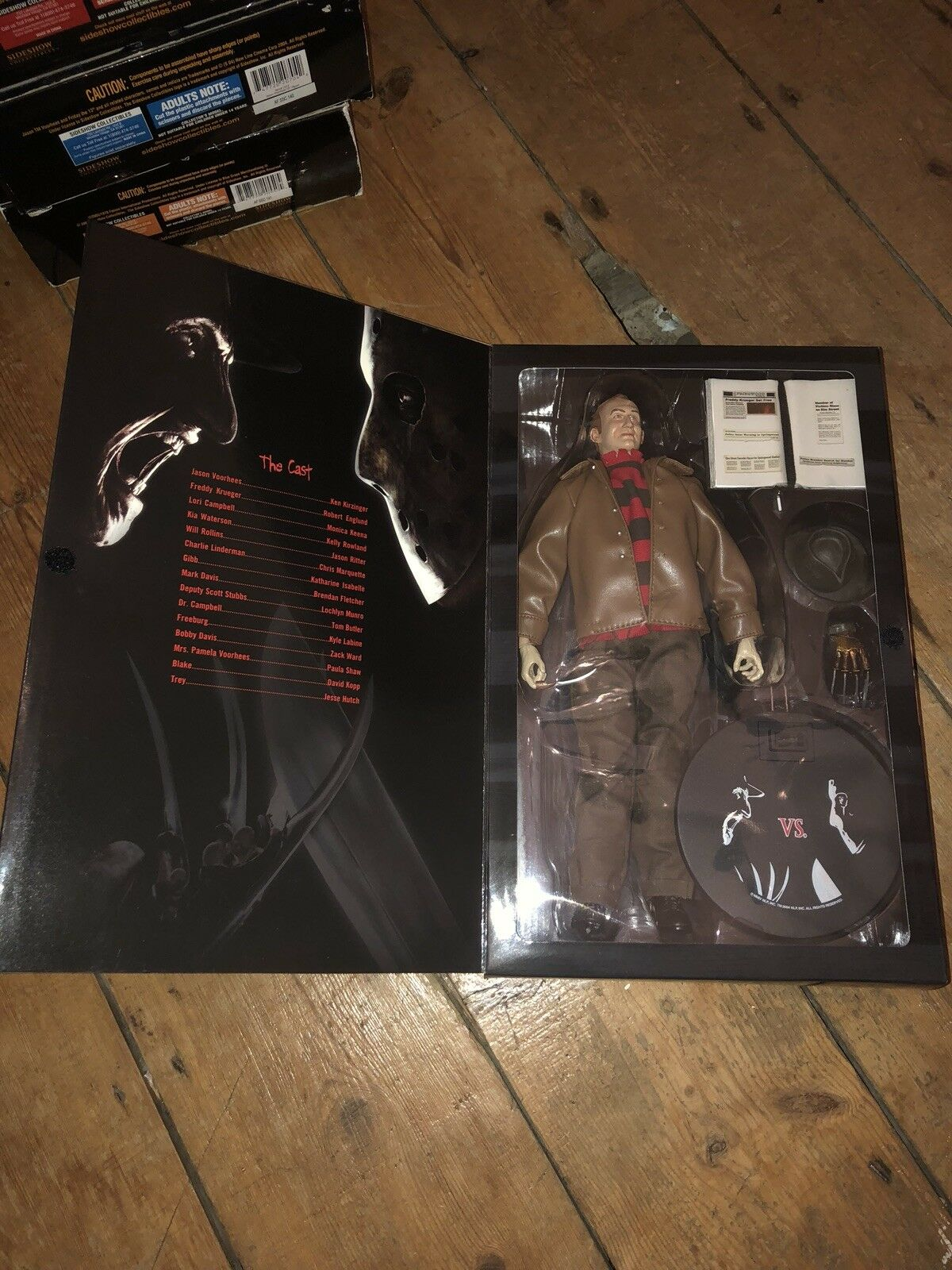 Sideshow Frotdy Frotdy Frotdy vs Jason  Robert Englund   Exclusive AF SSC 121 385526