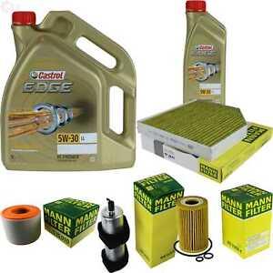 Inspection-Kit-Filter-Castrol-6L-Oil-5W30-for-Audi-A6-Avant-4G5-C7-2-0-Tdi