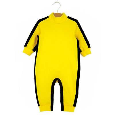 Bruce Lee Kung Fu Baby Kids Toddler Boys Bodysuit Jumpsuit Romper Outfit Costume
