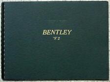 BENTLEY S2 SERIES & With DIVISON Car LF Sales Brochure c1957