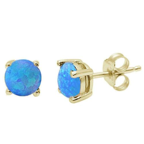Details about  /2 ct Black Opal Round Basket Stud Earrings in 14k Yellow Gold//Sterling Silver