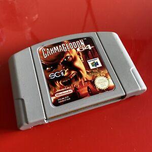 Carmageddon 64 Juego Para N64 NINTENDO 64 Cartucho sólo probado & trabajo