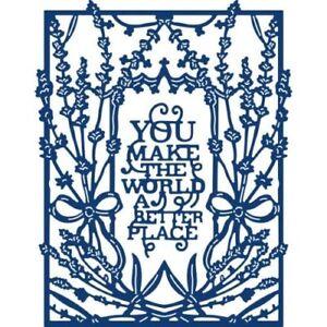 Tattered Lace LAVENDER TWILIGHT Frame /& Sentiment Craft Cutting Die Set TLD0584