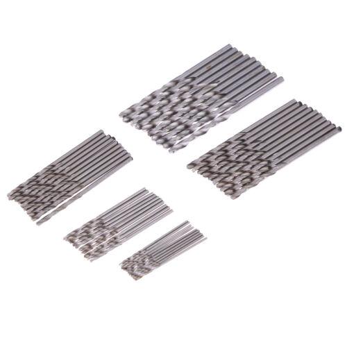 50x Titan HSS Spiralbohrer Satz//Set 1-3mm Werkzeug Set Metallbohrer bohrer