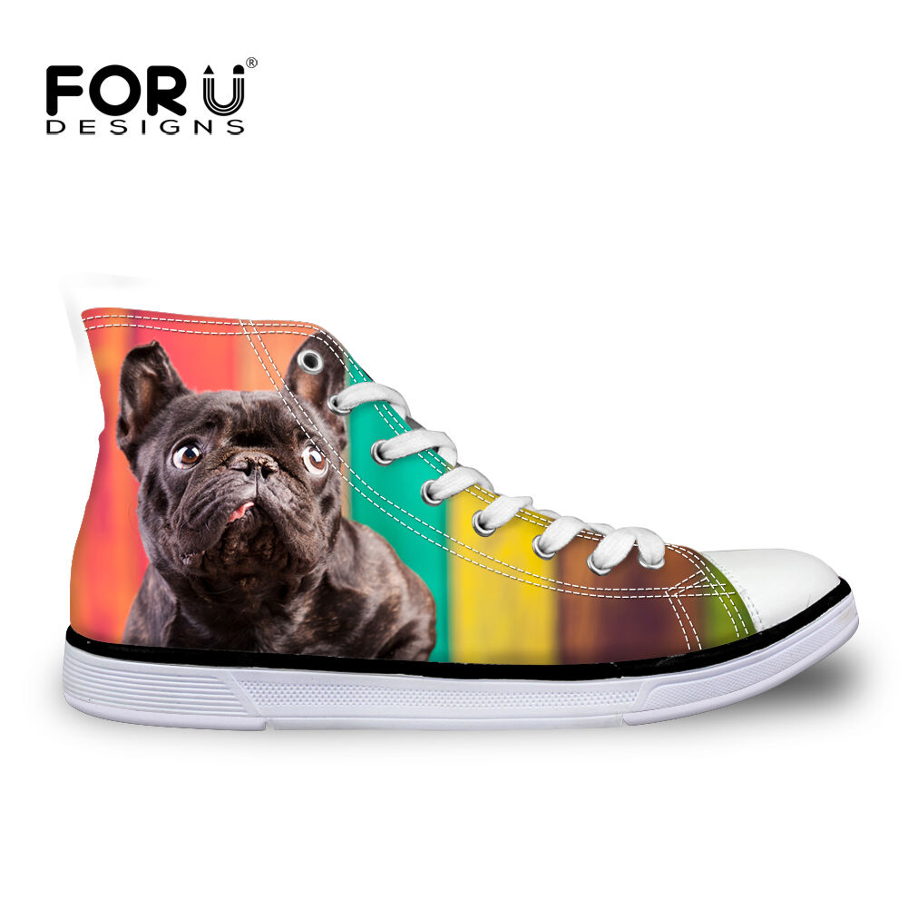 NEW Animal Women Men Teen Fashion High Top Lace Up Couple Trainers Canvas shoes