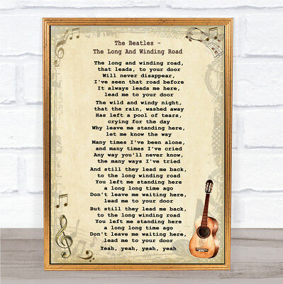 Bless The Broken Road Song Lyric Vintage Script Quote Print