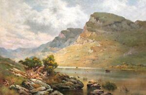 Alfred De Breanski Sr Wales Original Oil On Canvas Scene In Wales
