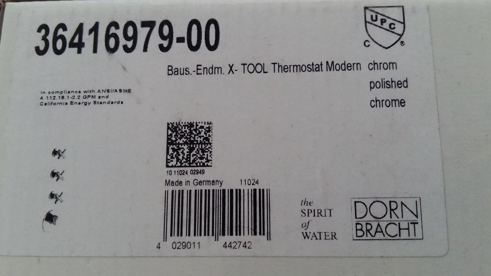 Dornbracht xTool UnterputzThermostat Modern Bausatz Endmontage chrom 36416979-00
