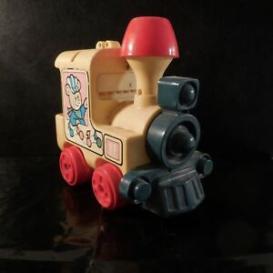 Petit-train-locomotive-jouet-TOMY-vintage-design-XXe-1980-PN-France-N3071