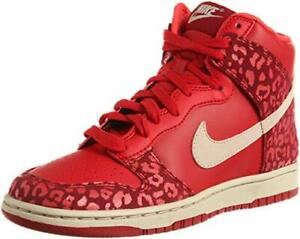 f340a4bced07 Nike WMNS Dunk High Skinny 429984-603 Red Leopard Womens NEW IN BOX ...