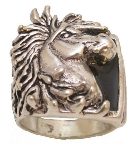 Made in the USA Horsehead Ring Size 10 R-23 Silver Plated Mens