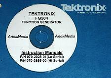 Tek Fg504 Opsservice Manual High Amp Low Serial 2vol