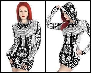 Satana abito Hood Metal Pentagram Killstar cappuccio Gothic Baphomet con Vulture Mini nw6x41qYZ