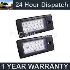 2X FOR AUDI A3 A4 A6 A8 S3 S4 S6 S8 6500K METAL 18 WHITE LED NUMBER PLATE LAMP