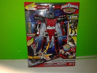 """Power Rangers Dino Super Charge RED PTERA CHARGE 11/"""" MEGAZORD 2016 FREE SHIPPING"""
