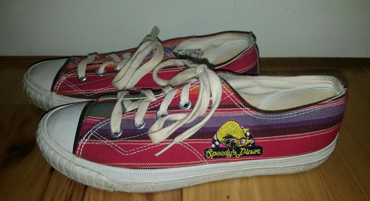Keds 1994 Looney Tunes That's All Folks Wouomo 8.5 Speedy's Diner scarpe RARE