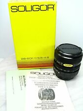 Vtg NEW NOS SOLIGOR 28-50mm F-3.5-F-4.5 MACRO Camera Lens CANON Mount - In Box