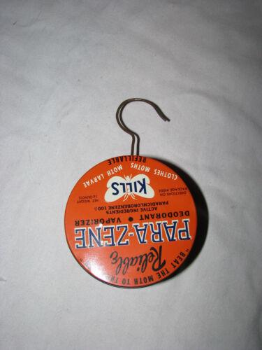 VTG Orange Hanging Tin Para-Zene //Deodrant//Vaporizer Moth Killer