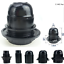 UK-E27-Screw-ES-Base-Cap-Retro-Vintage-Black-Light-Bulb-Lamp-Holder-Socket-DIY thumbnail 1
