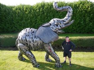 New DUTCH Range Large Life Size Metal Elephant