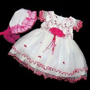 Mädchen Tüllkleid,festkleid,hochzeit Gr.62,68,74,80,86,92 Kleidung, Schuhe & Accessoires