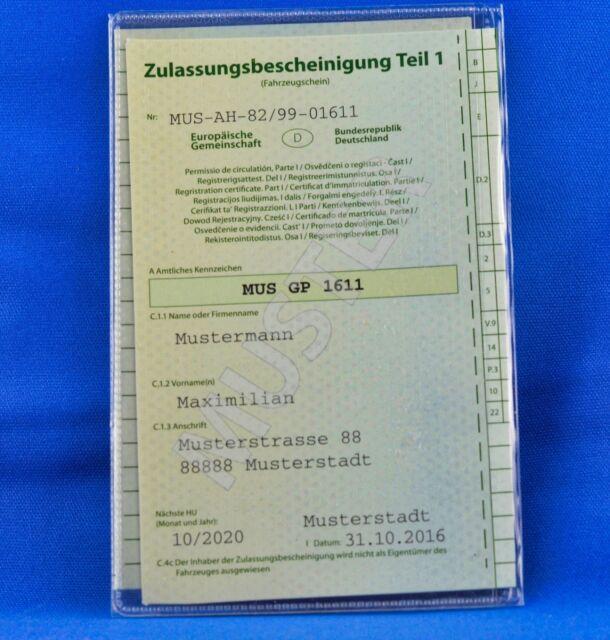 KFZ-Scheintasche Etui Ausweißhülle Führerscheinmappe Fahrzeugschein