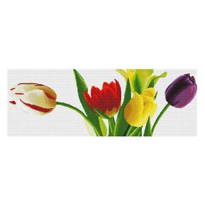 Dimensions-Stamped-Cross-Stitch-Kit-Tulip-Flower-11CT-45x18-039-039