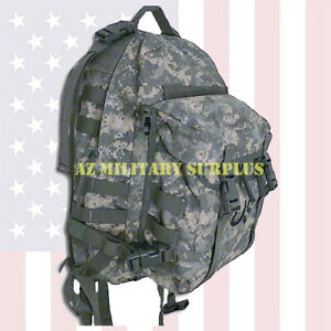 US MILITARY ASSAULT PACK HEAVY DUTY THREE DAY MOLLE II ACU BACKPACK w/STIFFENER!