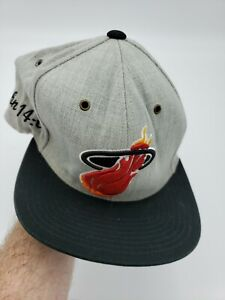 "Miami Heat Mitchell and Ness HWC NBA Cap Hat ""The Split Gray/Black"" B3"
