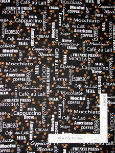 Coffee-Talk-Perfect-Blend-Beans-Black-Cotton-Fabric-by-Kanvas-Studio-By-The-Yard