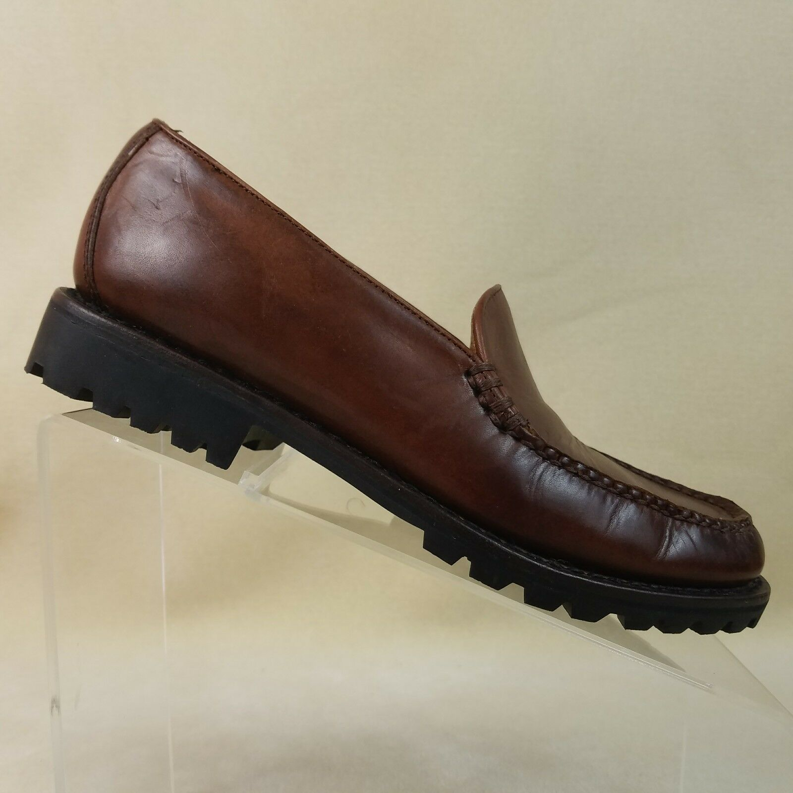 COLE HAAN Men's Brown Leather Loafers Slip On Dress shoes Size 7.5 AA  E32