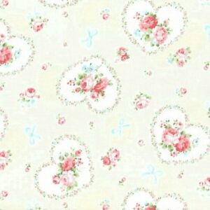Admirable Details About Cottage Shabby Chic Lecien Princess Rose Hearts Fabric 31266L 10 Cream Bty Download Free Architecture Designs Boapuretrmadebymaigaardcom