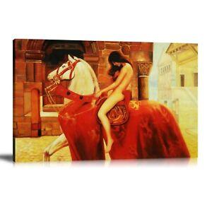 HD-Print-Oil-Painting-Home-Decor-Wall-Art-on-Canvas-Lady-Godiva-Unframed