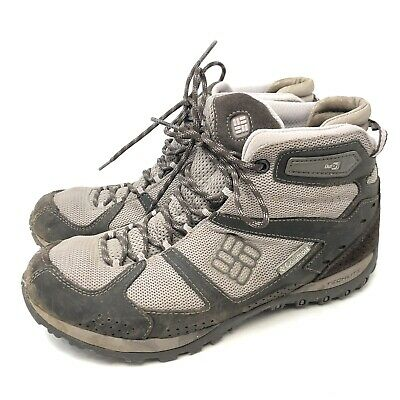 Columbia Women's Yama Gray Mid Leather Outdry BL3819 221 Hiking Boots Size 8.5   eBay