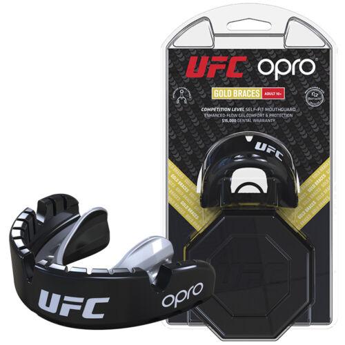 Opro UFC Gold Braces Mouthguard Gumshield