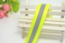 Fluoresce Green Reflective Safety Warning Tape Fabric 2x6m20