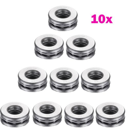 ID Atoplee 10 Pcs Bearing Steel Flat Thrust Ball Bearings Th x 12mm x 32mm OD 15mm