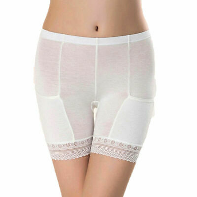 Women Elastic Short Leggings Safety Under Pants With Pocket Shorts Lace-trimmed