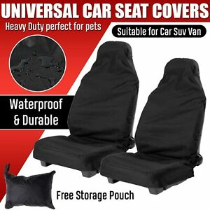 2x Universal Waterproof Front Seat Cover Protector Car Van Nylon Heavy Duty
