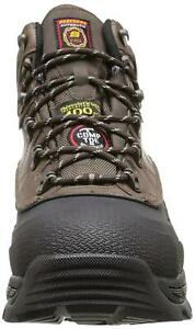 Skechers Mens 77050 Leather Soft toe Lace Up Safety, Black/Brown, Size 12.0 gd8I